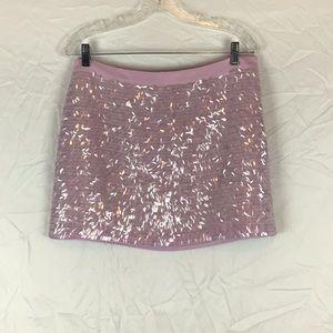 Club Monaco Lavender/Pink Sequin Mini Skirt🛍